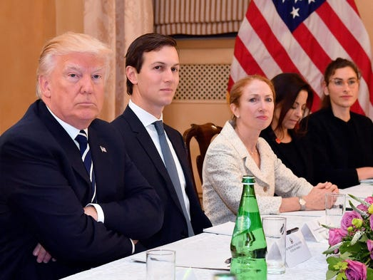 President Trump and Kushner attend a meeting with Italian