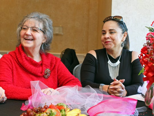 Patricia Love (left) and Carmen Caratini have bonded