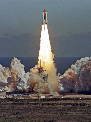 """""""I was in 6th grade science class at Vista del Sol middle. We were watching the lift off live."""""""