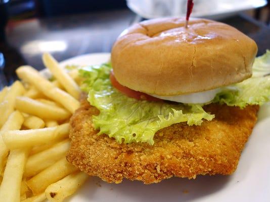 Iowa Cafe   Pork tenderloin sandwich