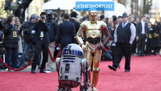 """They need no introduction. The world's most famous droids, R2-D2 and C-3PO, arrive Dec. 14, 2015, at the premiere of """"Star Wars: The Force Awakens"""" in Los Angeles."""