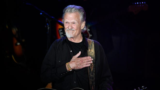 "Kris Kristofferson performs ""Sunday Morning Coming Down"" during the NSAI 50 Years of Songs concert at the Ryman Auditorium in Nashville, Tenn., Wednesday, Sept. 20, 2017."