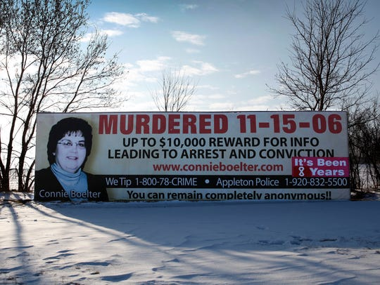 The effort to find Connie Boelter's killer has involved billboards, bumper stickers, monetary rewards and listings on national crime-fighting websites.
