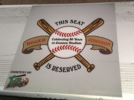 """A look at the """"reserved"""" seat for Roger Johnson, in"""
