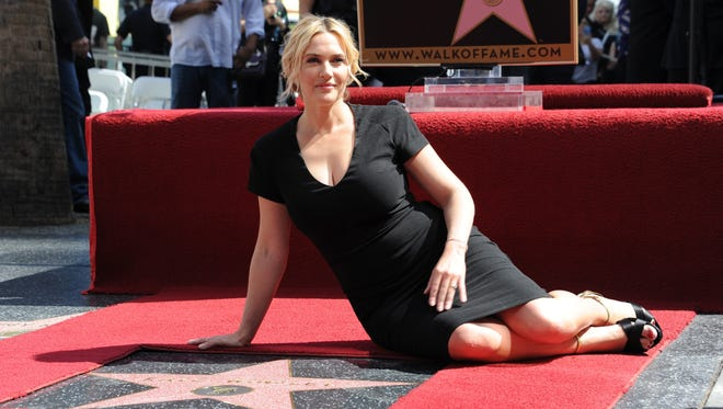 Actress Kate Winslet is honored with a star on the Hollywood Walk of Fame in Hollywood, Calif., on March 17, 2014.