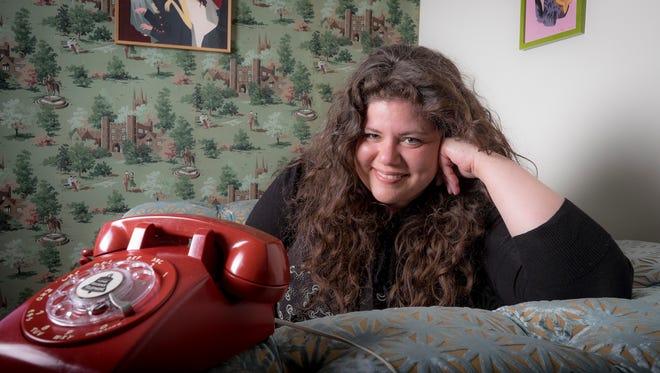 Rainbow Rowell, author of 'Landline,' in her Omaha home.