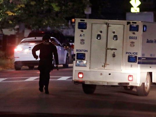 AP OFFICERS SHOT BOSTON A USA MA