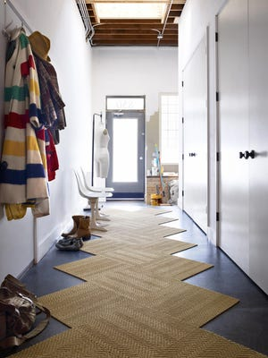 Flor's Suit Yourself rug is practical (it's made of tough sisal) yet unexpected. Its funky zigzag shape mixes up the standard rectangle ($224, flor.com).