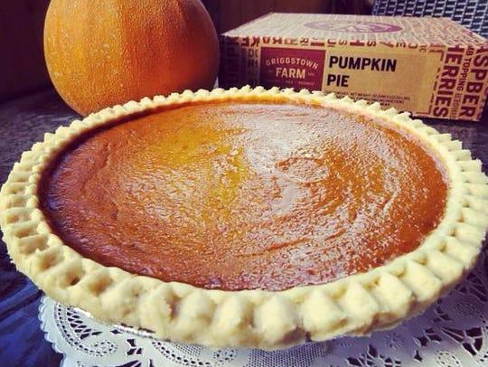 Pumpkin pie from Griggstown Farm.