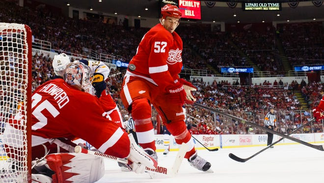 Detroit Red Wings defenseman Jonathan Ericsson says he didn't want to go anywhere else.