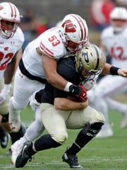 Wisconsin linebacker T.J. Edwards was second on the