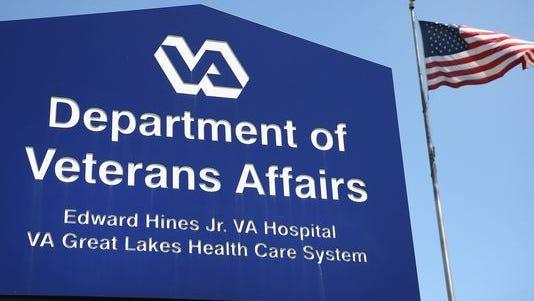 Department of Veterans Affairs sign.