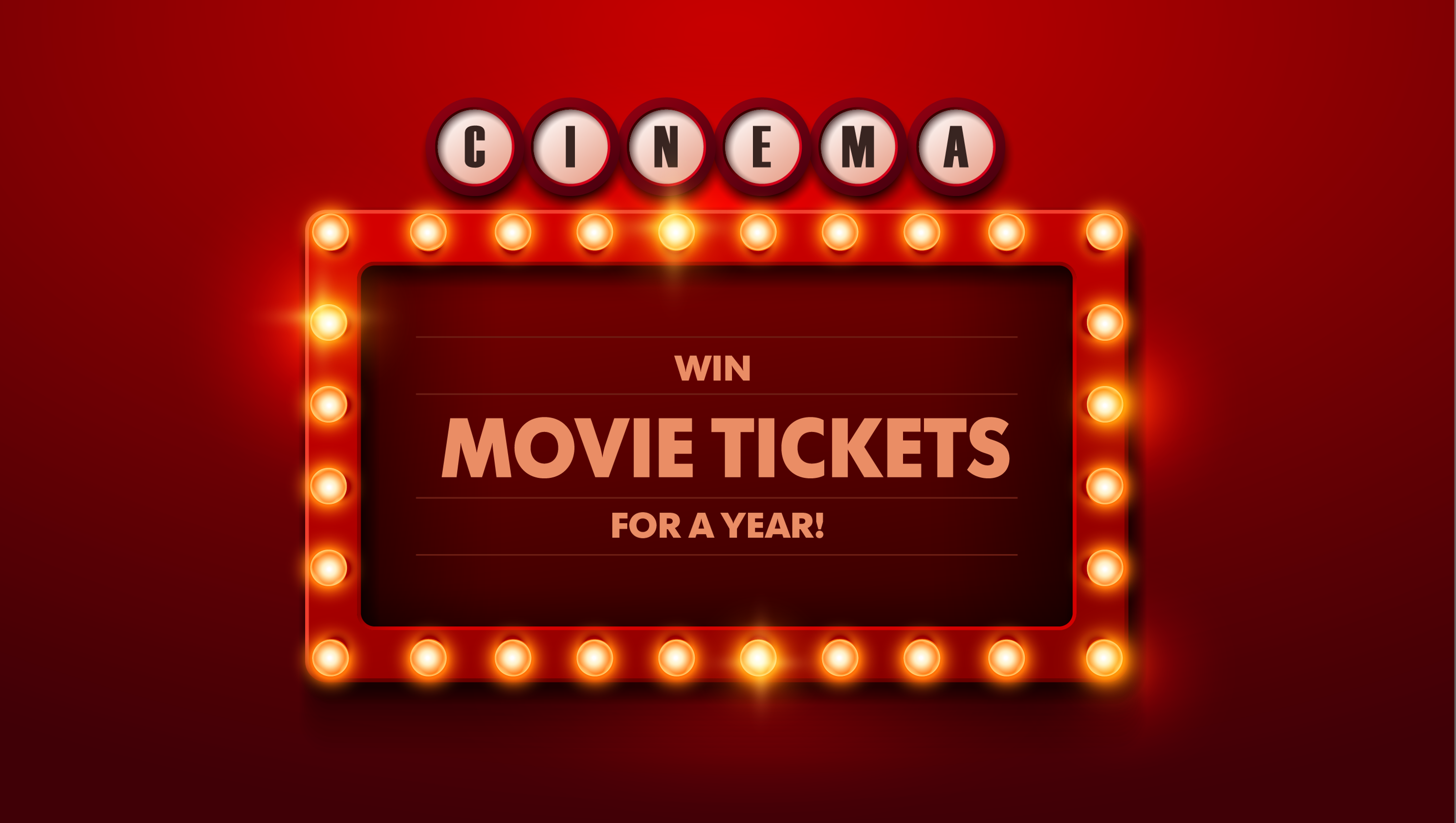Deals: Win Movie Tickets For An Entire Year!