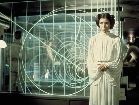 Carrie Fisher as Princess Leia in the original 1977
