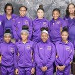 St. Landry Parish Lawtell Lady Trojans basketball team.