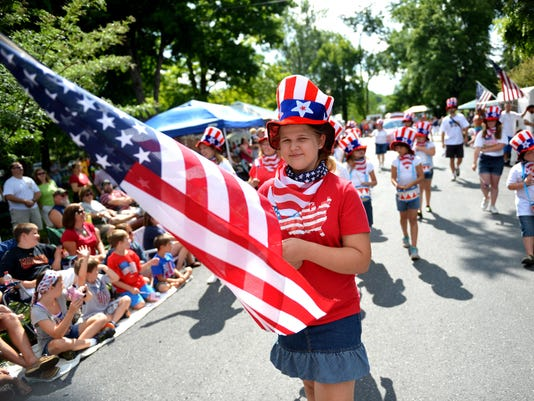 The annual America's Birthday Celebration parade in Staunton