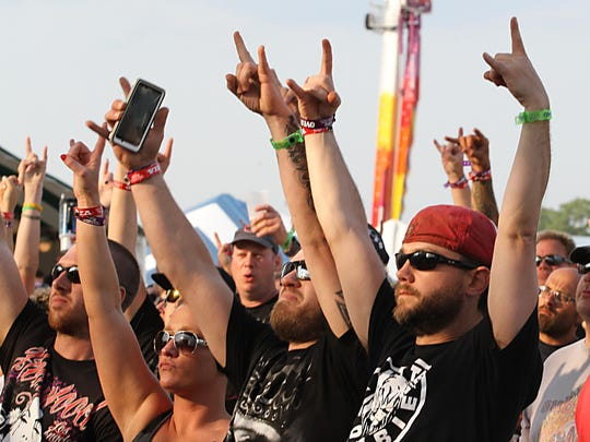Rock USA fans show their support for the music festival.