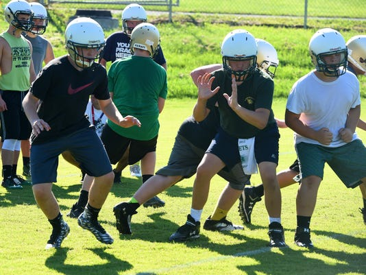 First day of football practice