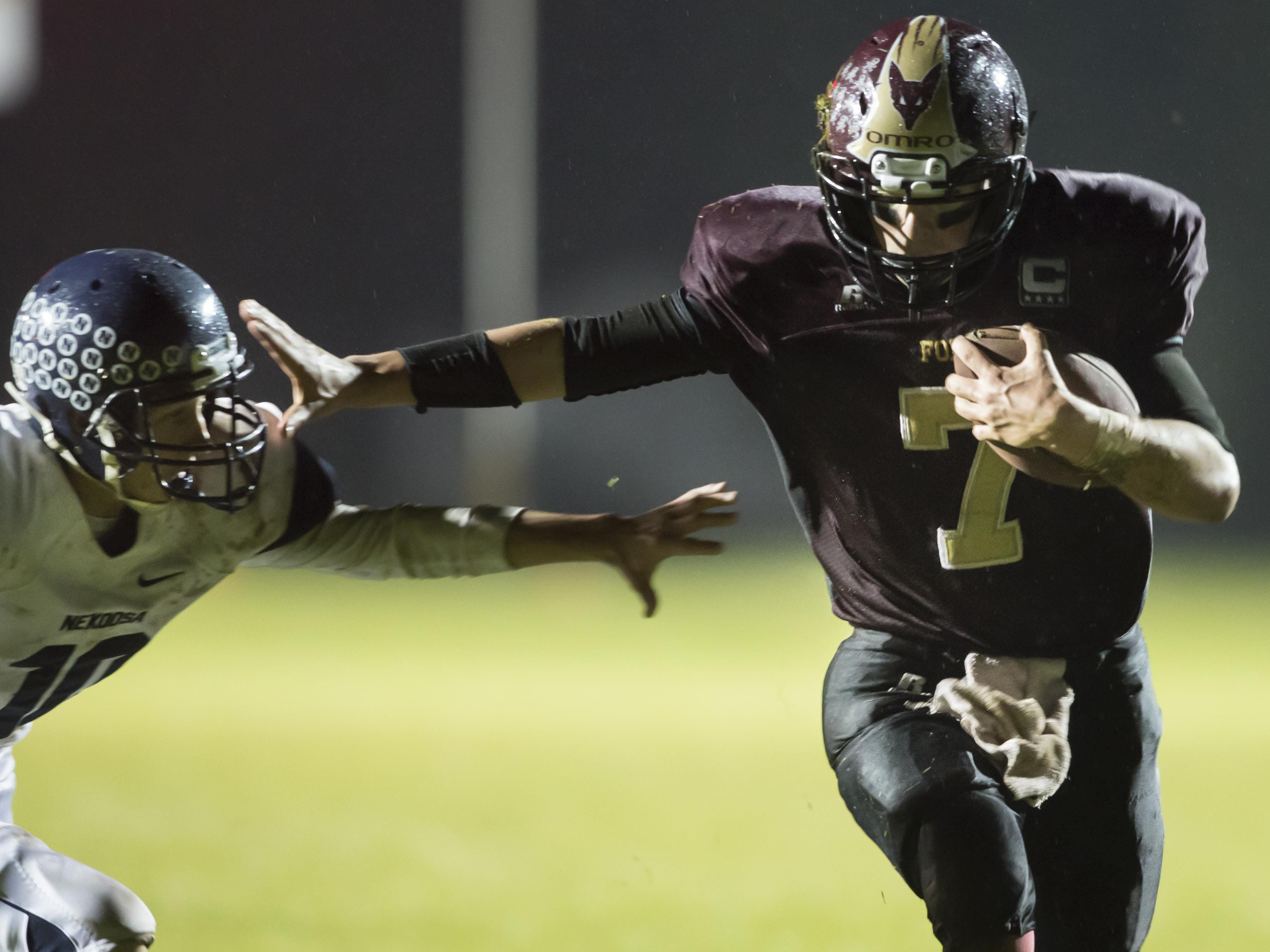 Omro's Spencer Potratz finished the season with 708 passing yards and nine touchdowns against only one interception, while rushing for 739 yards and eight touchdowns.