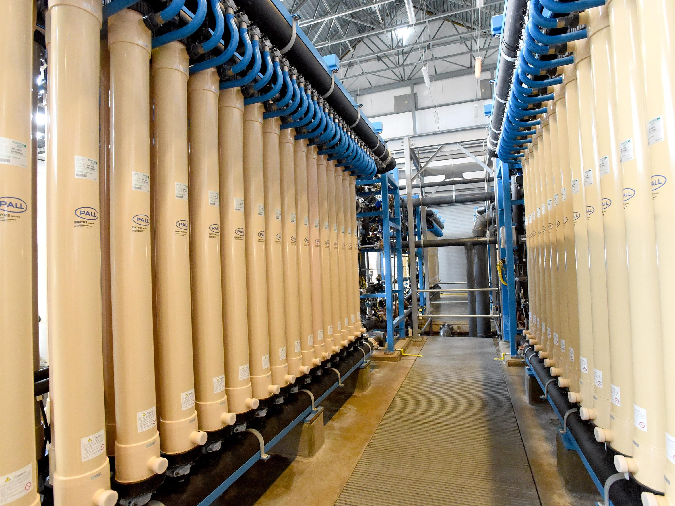 The filtration room at the heart of the water treatment plant at Coyner Springs Park in Waynesboro on Tuesday, March 15, 2016.