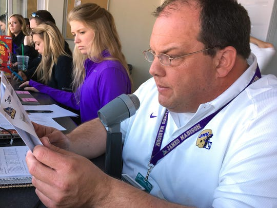 James Hickey will be the PA announcer for the ODAC men's and women's basketball tournaments in Salem this week. He is also the announcer for several JMU sports, including softball and volleyball.
