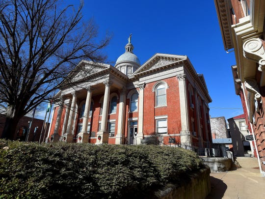 The Augusta County Courthouse.