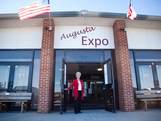 Judith Cariker, president of Augusta Expo, stands outside of the convention center in Fishersvile on Dec. 12, 2014.