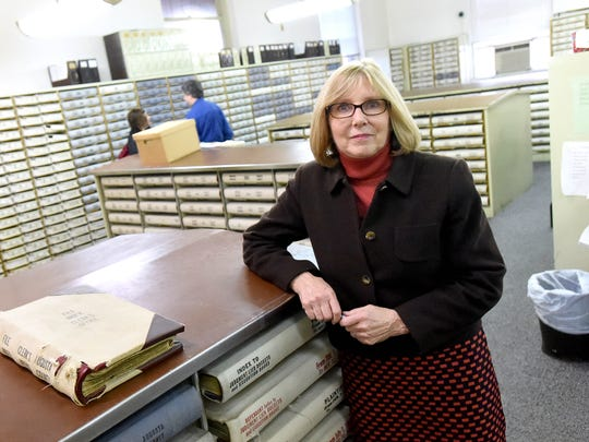 With the new year, Carol Brydge is set to take over as Augusta County Circuit Court Clerk. She is photographed at the Augusta County courthouse on Wednesday, Dec. 31, 2014.
