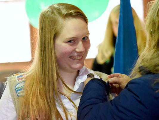Kiersten Parkinson receives Girl Scout Gold Award