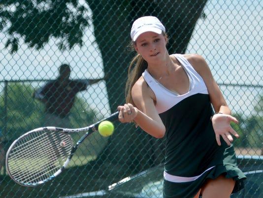Graham High at Wilson Memorial - Group 2A girls' tennis state team semifinals
