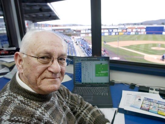 Binghamton Mets' score keeper Steve Kraly in 2007.
