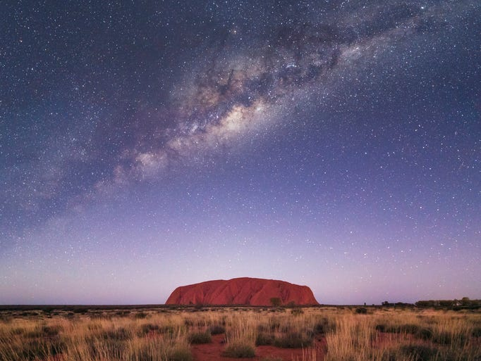 Uluru resembles a giant submarine, yet the bulk of