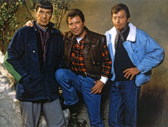 Spock, Kirk, and McCoy in promotional photo for Star