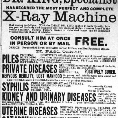 Doctor named King got El Paso's first X-ray machine in 1897