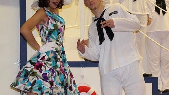 "Nick Yanik (right) and Liliana Garcia performed in ""Anything Goes"" at Edison High School"