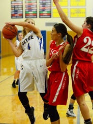 Clyde's Heidi Marshall surpassed 1,000 points for her career Saturday in a win over Perkins.