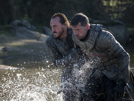 Bronn (Jerome Flynn), left, and Jaime Lannister (Nikolaj