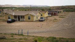 Houses built by the Navajo Housing Authority in Aneth,
