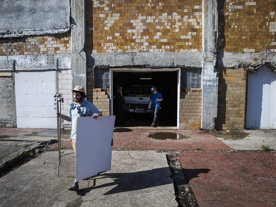 'The Pale Man' movie crew shot several scenes at a former slaughterhouse on Granville Avenue in Muncie.