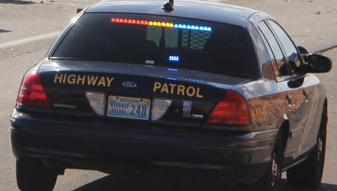 Nevada Highway Patrol said Terrance D. Cicci of Las Vegas wasn't wearing a seatbelt when he crashed Saturday morning.