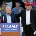 Sen. Jeff Sessions and  Donald Trump in Madison, Ala.,  on Feb. 28, 2016.