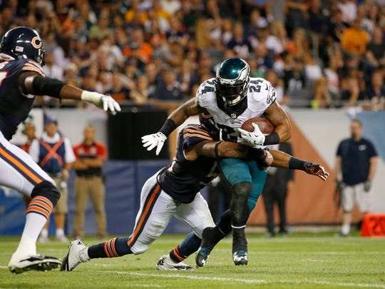 The Colts could use some of this. Freeman tackled Philadelphia Eagles running back Ryan Mathews (24) on  Monday night.