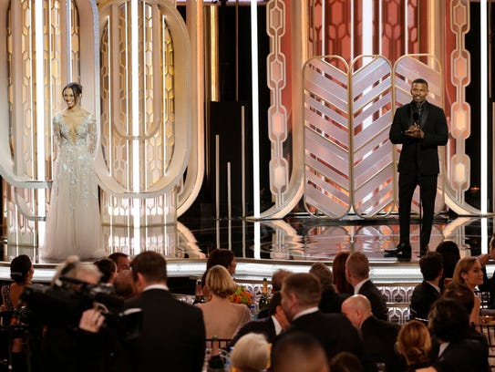 In this image released by NBC, Miss Golden Globe, Corrine