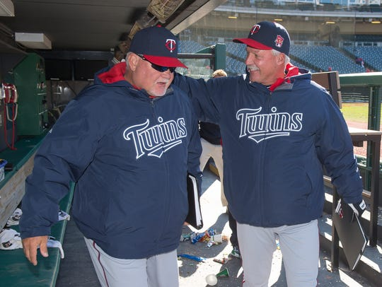 Ron Gardenhire and Rick Anderson in 2014
