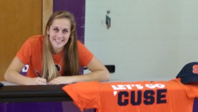 Dryden senior Taylor Bennett signed her letter of intent to play for Syracuse University Wednesday afternoon.