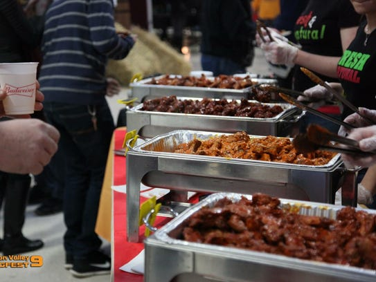 A selection of wings is featured at Hudson Valley Wingfest