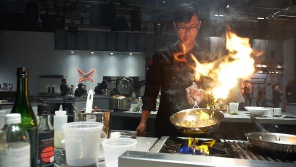 Contestant Kevin Tien, as seen on Iron Chef Gauntlet,