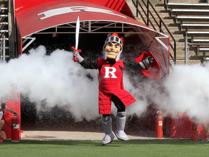 Rutgers Fan Appreciation Day was held on Saturday August 9,2014. The day included a open practice for the fans, equipment surplus sale, autograph session and the unveiling of the new Rutgers Scarlet Knight mascot at High Point Solutions Stadium.    On Saturday August 9,2014 Photo: Mark R. Sullivan/Staff Photographer