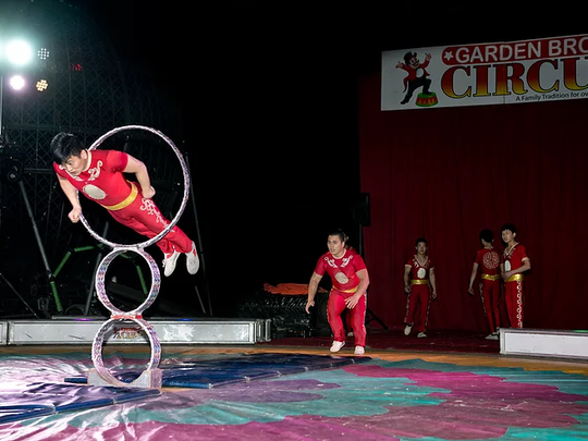 The Garden Bros. Circus will have shows at 4:30 and 7:30 p.m. Wednesday, Sept. 13 at the American Bank Center, 1901 N. Shoreline Blvd. Celebrating 100 years entertaining American. See live elephants, motorcycle daredevils in the Globe of Doom, acrobats, the Human Slingshot, racing camels, clowns, and aerialists. Cost: First 100 adults tickets sold, $9.95. Information: www.gardenbroscircus.com.