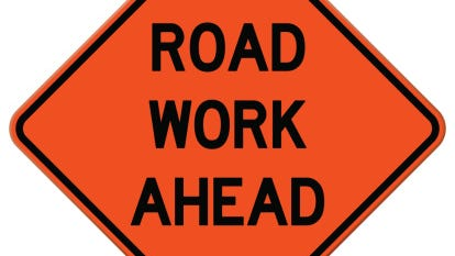 One lane will be closed on part of East Riverview Expressway through May 22.